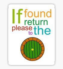 If Found Please Return to the Shire Sticker