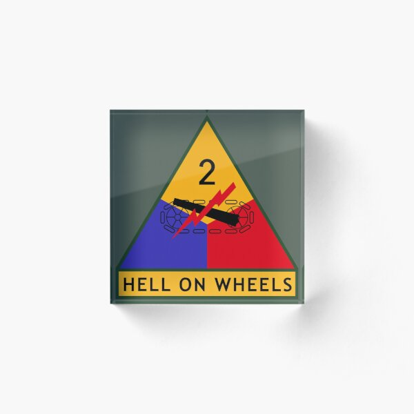 """2nd Armored Division """"Hell on Wheels"""" (United States Army) Acrylic Block"""