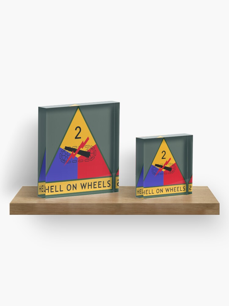 "Alternate view of 2nd Armored Division ""Hell on Wheels"" (United States Army) Acrylic Block"