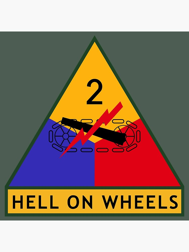 "2nd Armored Division ""Hell on Wheels"" (United States Army) by wordwidesymbols"