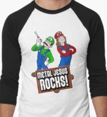 Mario Metal Jesus Men's Baseball ¾ T-Shirt