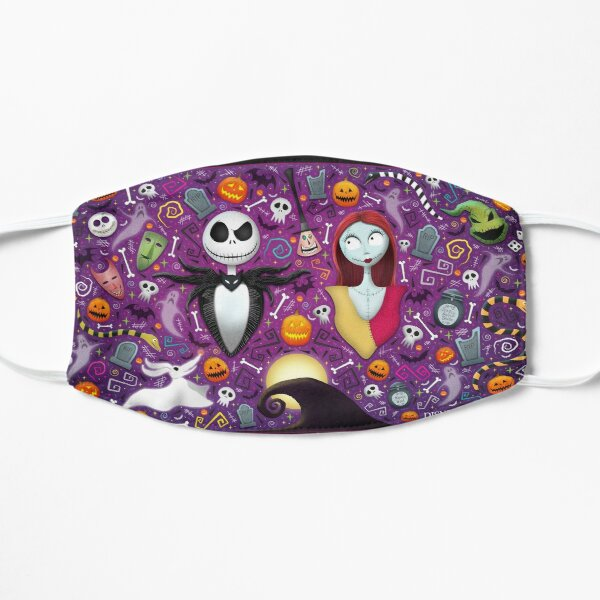 Halloween with Jack and Sally Flat Mask