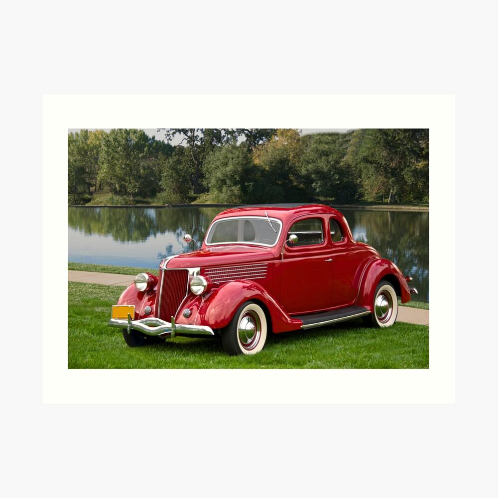 1936 Ford Coupe Kunstdruck