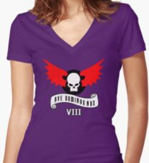 AVE DOMINUS NOX - VIII Women's Fitted V-Neck T-Shirt