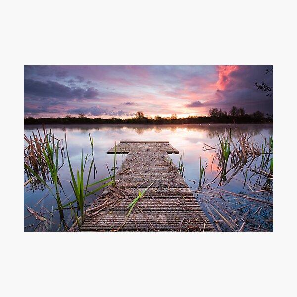 Jetty sunrise Photographic Print
