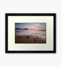 Eastbourne pier sunrise Framed Print