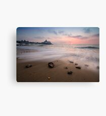 Eastbourne pier sunrise Canvas Print