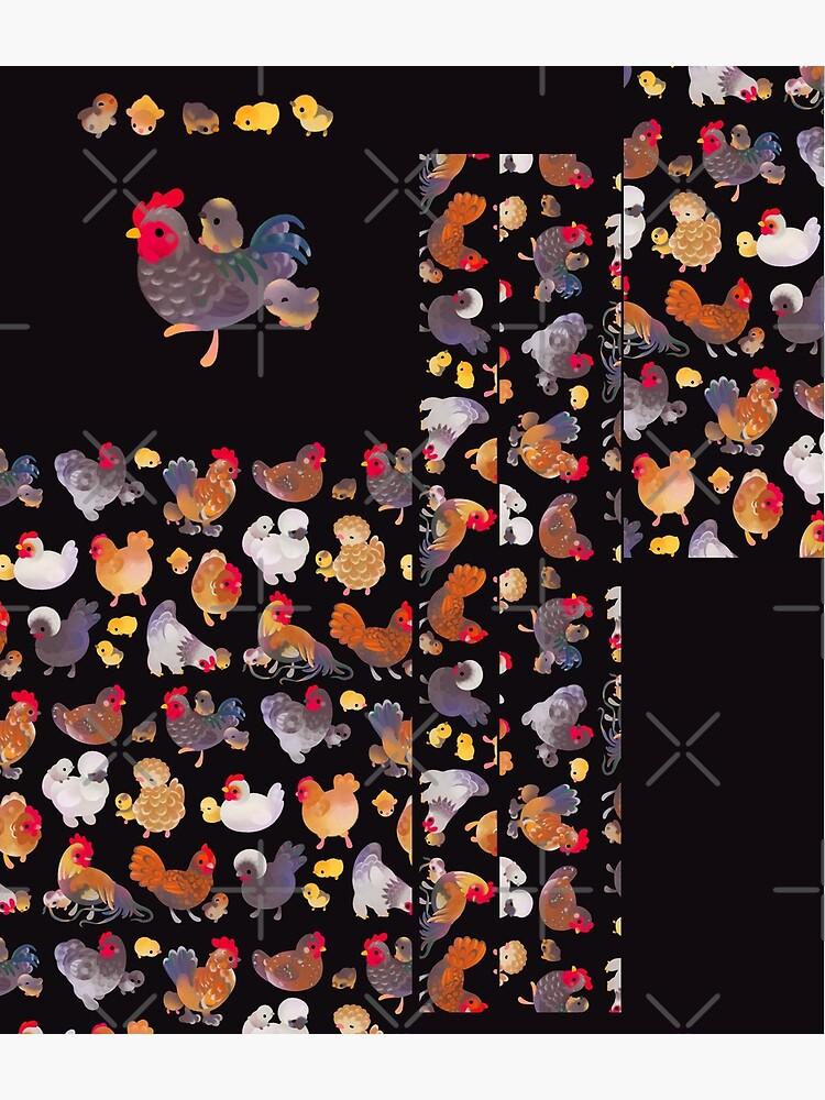 Chicken and Chick - dark by pikaole