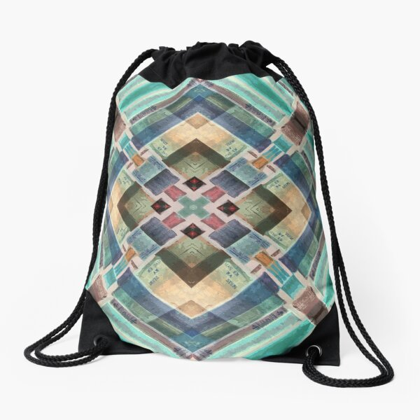 Abstract Mandala Drawstring Bag