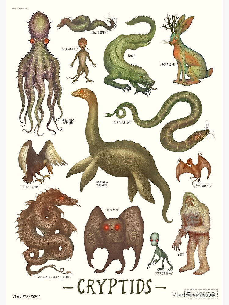 Cryptids, Cryptozoology species by vladimirsart