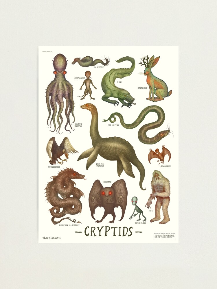 Alternate view of Cryptids, Cryptozoology species Photographic Print