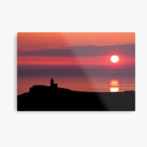 Belle tout lighthouse silhouette Metal Print