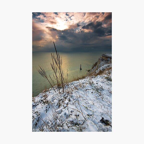 Winter Beachy head lighthouse  Photographic Print