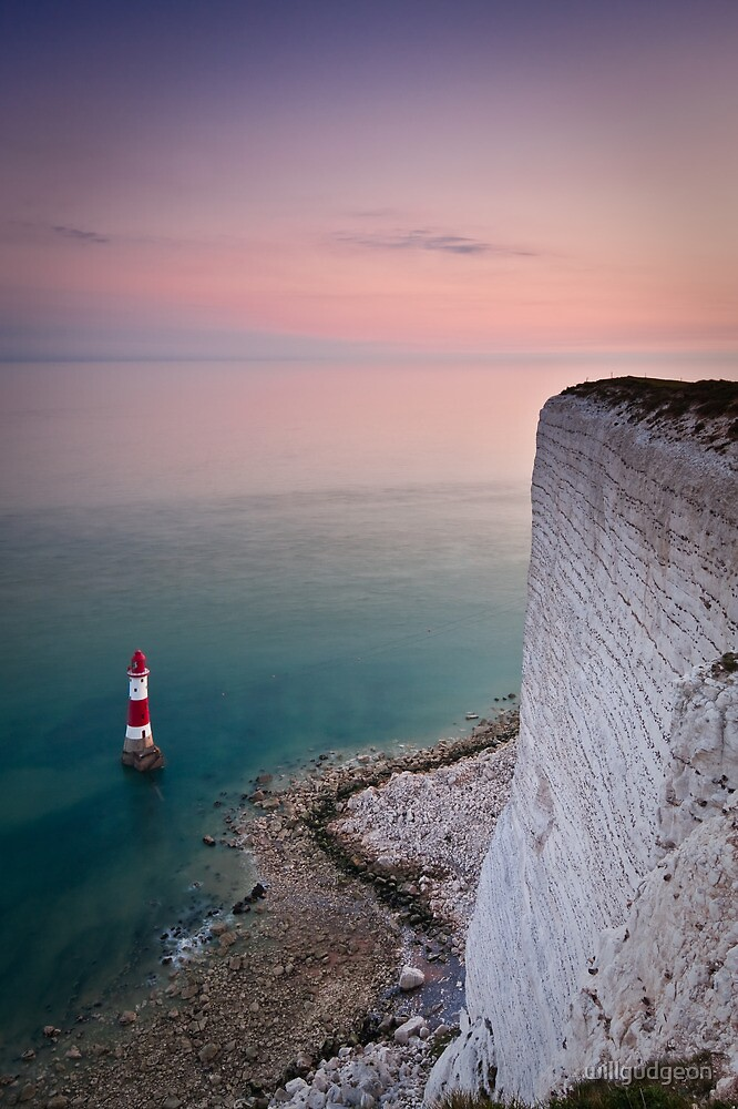 Quot Beachy Head Lighthouse Sunset Quot By Willgudgeon Redbubble