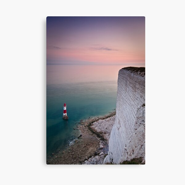 Beachy head lighthouse sunset Canvas Print