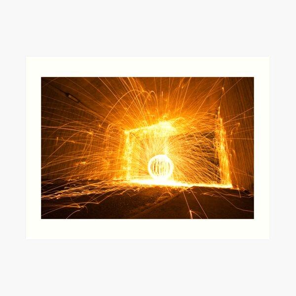 Fire orb Art Print