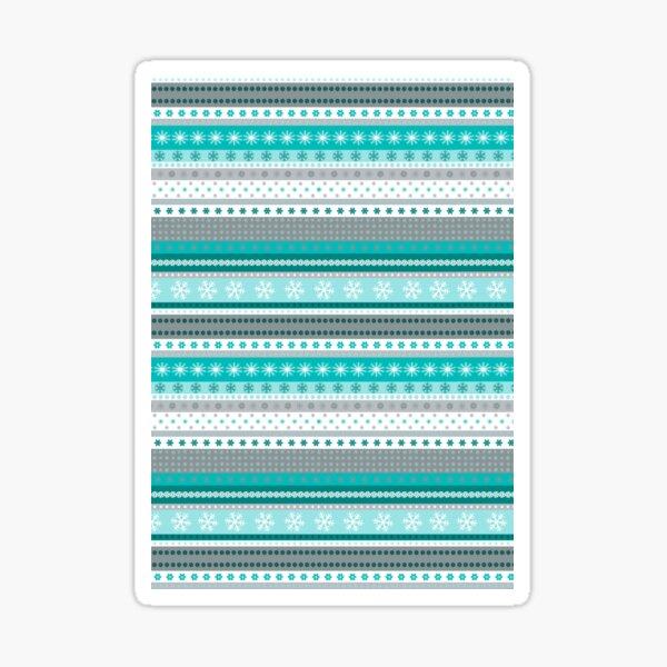 Horizontal Icy Blue Stripes Sticker