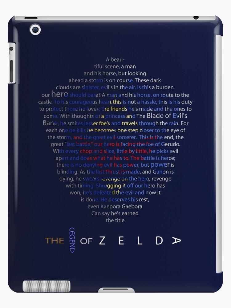 The Legend of Zelda Shield Poem by Tanner Shelton