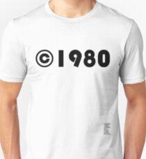 Year of Birth ©1980 - Light variant Unisex T-Shirt