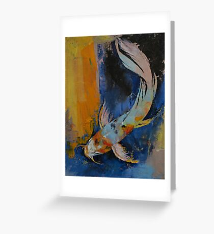 Sanshoku Koi Greeting Card