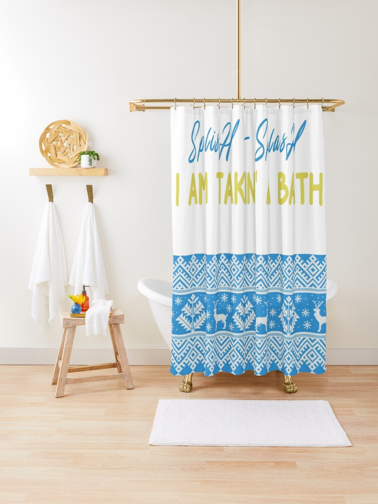 Splish Splash I Am Takin A Bath Shower Curtains Kids Shower Curtain Kids Bathroom Decor Shower Curtain By Ibrahimibraa Redbubble