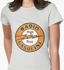 Radio Gasoline High Test T-shirt Womens Fitted T-Shirt