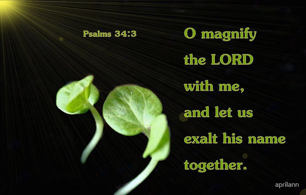 Let Us Exalt His Name Together by aprilann