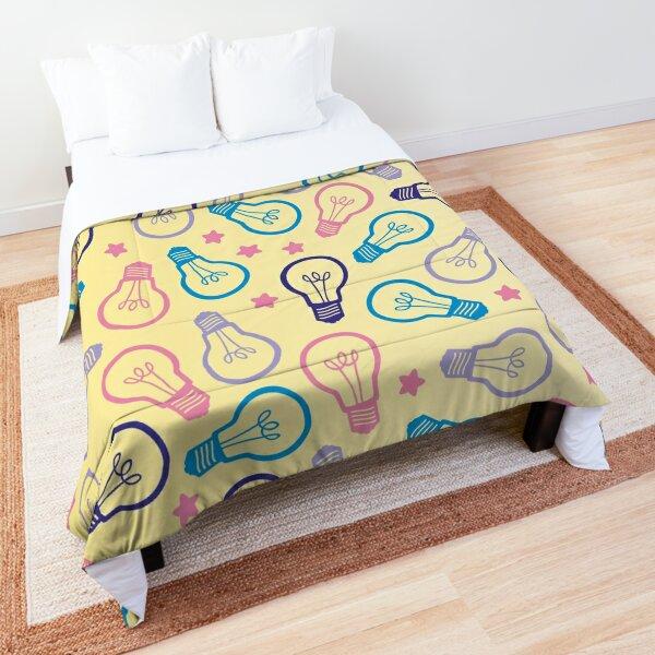 Cute Pastel Lightbulbs Comforter