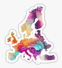 Europe Map colored Sticker