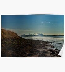 River orwell in haze Poster