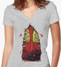 Headcrab Zombie Women's Fitted V-Neck T-Shirt