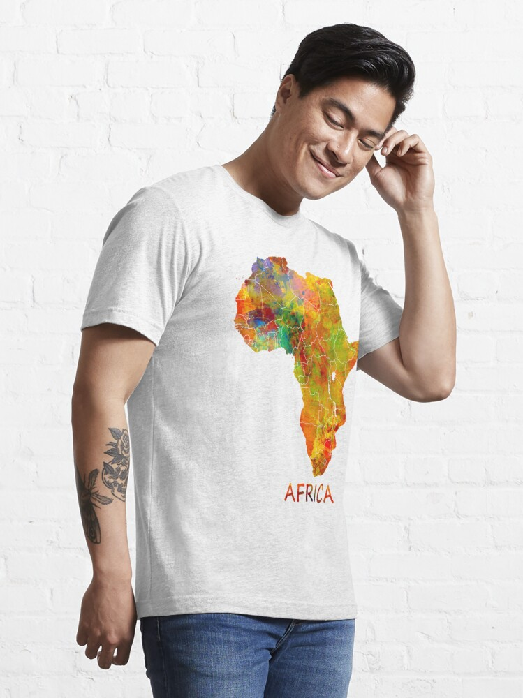 Alternate view of Africa map #africa #map Essential T-Shirt