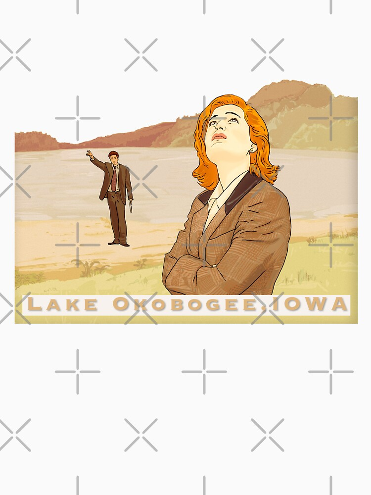lake Okobogee Iowa, Scully and Mulder  by MimieTrouvetou
