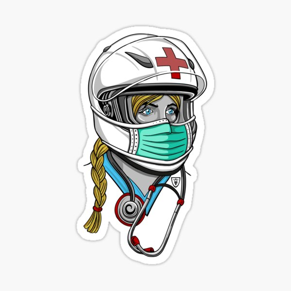 Julie Sport Helmet Biker Girl Sticker