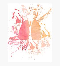 Paint Splattered Lungs Photographic Print