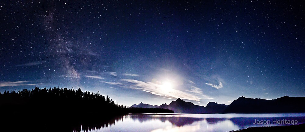 The Milkyway Meets the Moon - Grand Teton National Park, Wyoming by Jason Heritage