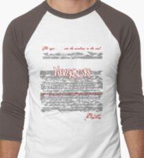 The Following:Nevermore Men's Baseball ¾ T-Shirt
