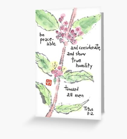 Japanese Beautyberry in Bloom Greeting Card