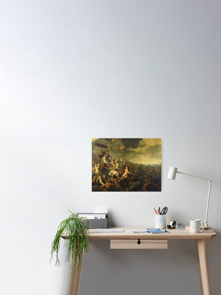 Adriaen Van Nieulandt I Galatea And Acis 1651 Poster By Artcenter Redbubble