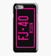 FJ40 Widow Logo Pink iPhone Case/Skin