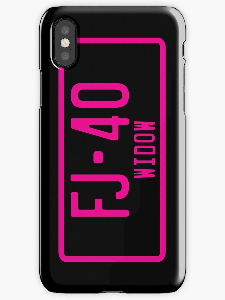 FJ40 Widow Logo Pink by FJ40Widow