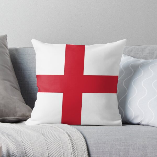 Flag of England (St. George's Cross) Throw Pillow
