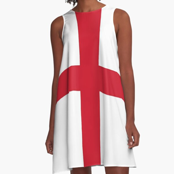 Flag of England (St. George's Cross) A-Line Dress