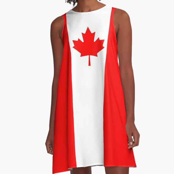 Flag of Canada A-Line Dress