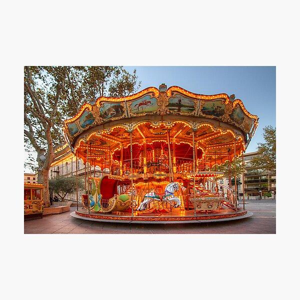 La Belle Epoque Carousel Photographic Print