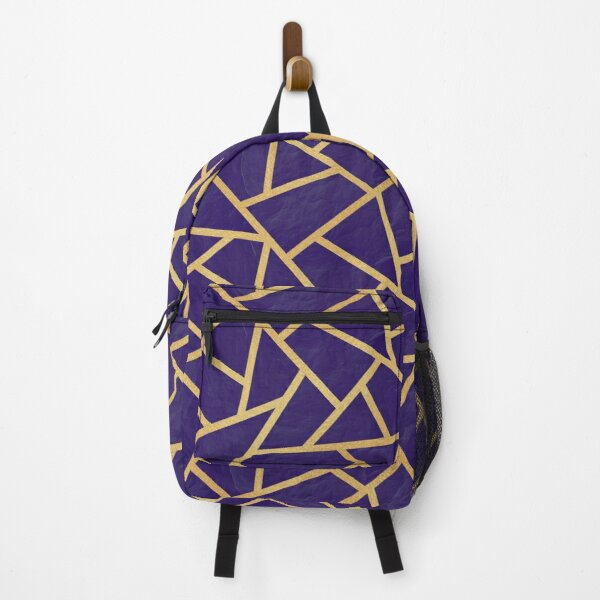 Intersections - Gold and Blue Slate - Repeat Pattern Backpack