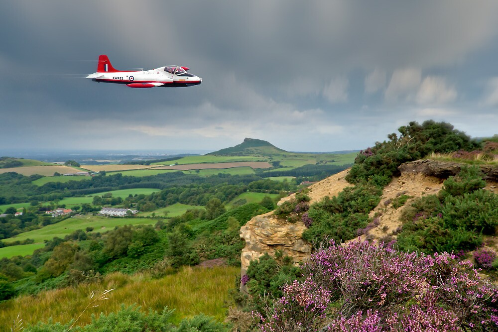Jet Provost over the Cleveland Hills by Gary Eason
