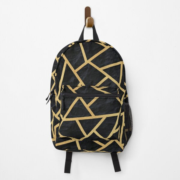 Gold & Slate - Repeat Pattern Backpack