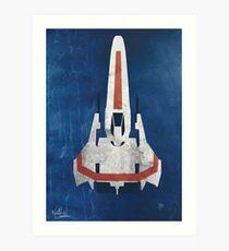 Battlestar Glactica pop art / minimal viper  Art Print
