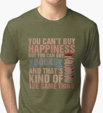 Books=Happiness Tri-blend T-Shirt